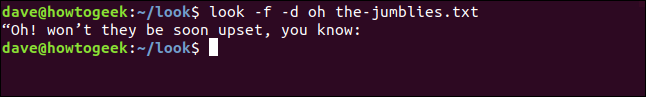 "Output from ""look -f -d oh the-jumblies.txt"" in a terminal window."