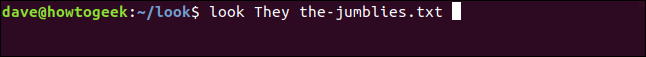 """""""look They the-jumblies.txt"""" in a terminal window."""
