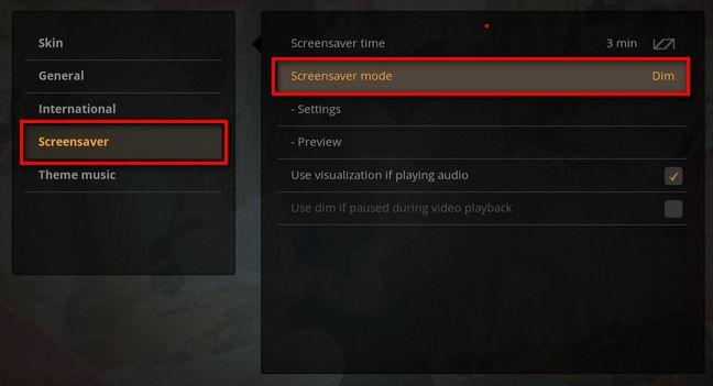 Plex Interface on Screensaver options.