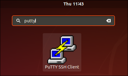 The PuTTY icon