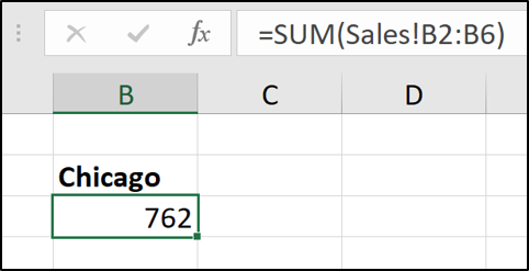 Sheet cross reference in sum function