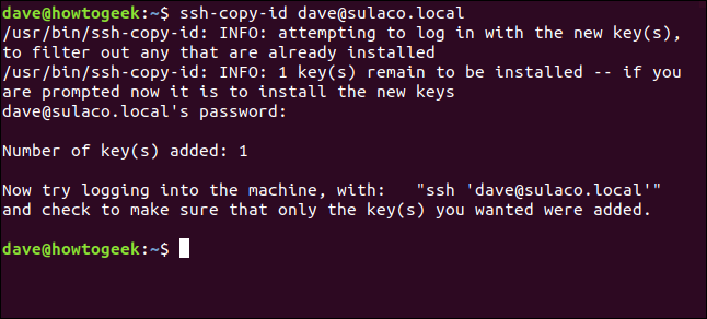 transferring SSH keys to the local computer in a terminal window