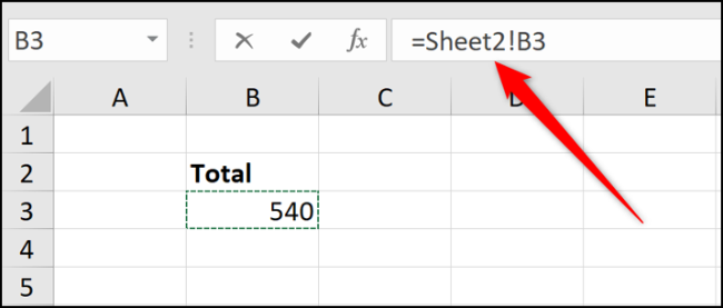 Sheet reference in formula