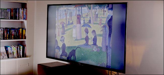 "A TCL TV displaying ""A Sunday on La Grande Jatte"""