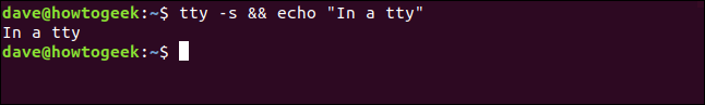 """In a tty"" in a terminal window"