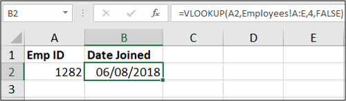 The VLOOKUP function