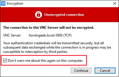"""Select the """"Don't warn me about this again on this computer"""" checkbox."""