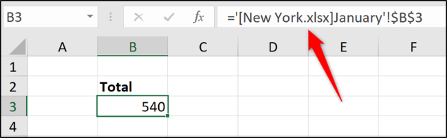 Formula that references another workbook
