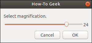zenity scale dialog with user selection