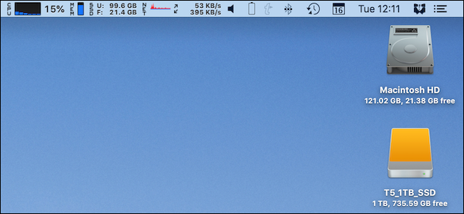A full menu bar on a Mac.