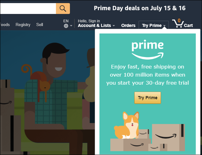 Prime 30-day free trial