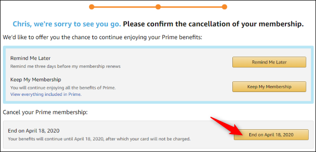 Option to cancel Prime auto-renewal on Amazon.com