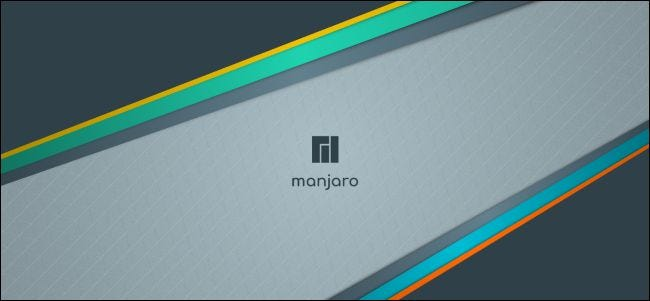 Manjaro desktop background.