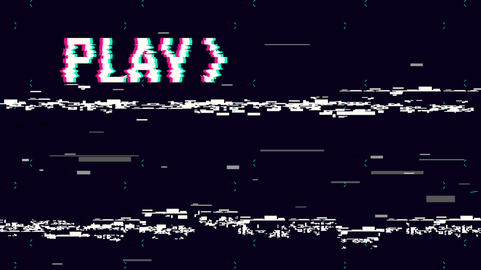 VHS-style Play screen