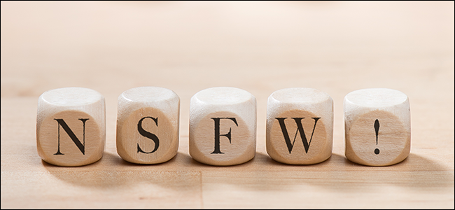 NSFW spelled out with scrabble letters