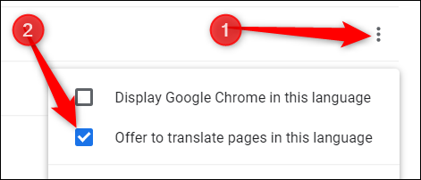 """If you want pages translated into this language as well, from the menu, check the box next to """"Offer to translate pages in this language."""""""