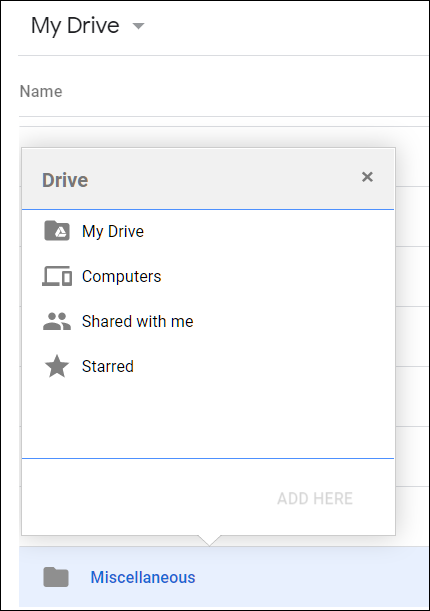 Select a file and press Shift+Z to open this context menu.
