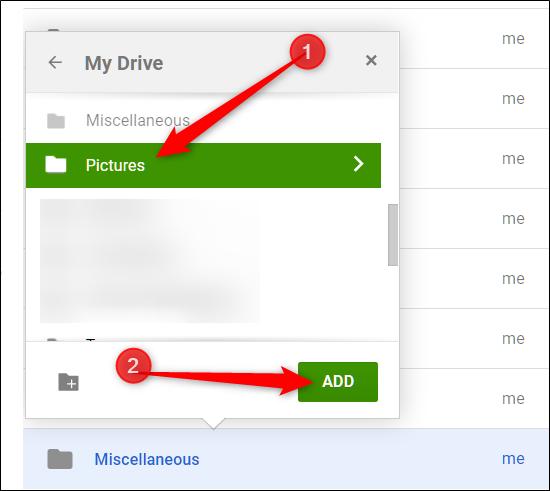 "Choose a folder and click ""Add."""