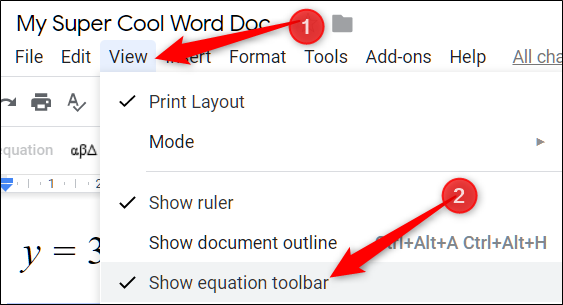 Click View > Show equation toolbar to get rid of the equation editor toolbar.