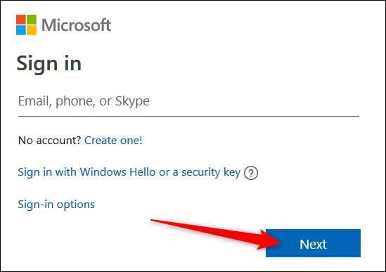 """At the Sign-in page, enter the credentials to your email, and then click """"Next."""""""