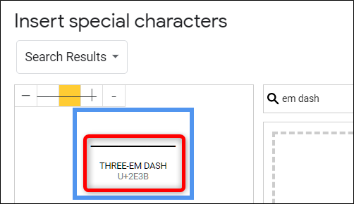 Hover over each one to make sure you insert the right type of dash.