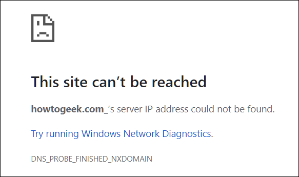 Page error if you hit Enter.