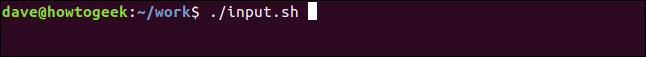 ./input.sh in a terminal window