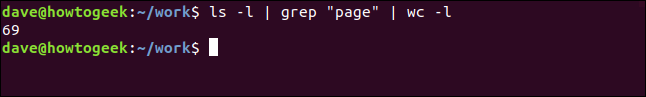 "ls - | grep ""page"" 