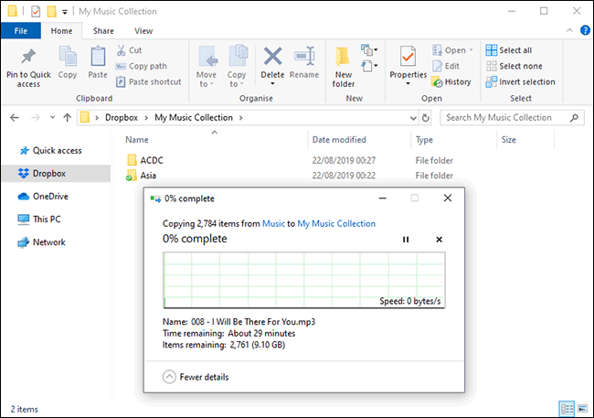 File Uploads to Dropbox in Windows File Manager