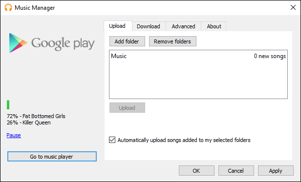 Google Play Music Manager With Music Uploading
