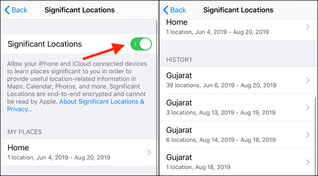 Location History On Iphone Or Ipad