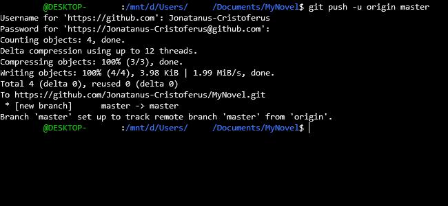 A PC command line.
