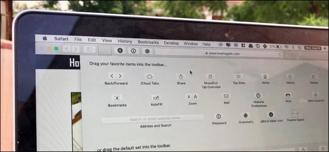 Customize Toolbar menu in Safari in macOS