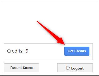 """Click """"Get Credits."""""""