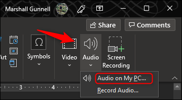 Insert Audio from PC