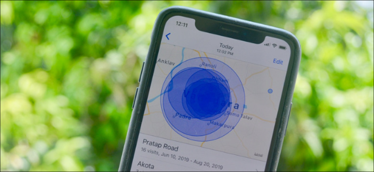 Location History visualization and map in iPhone