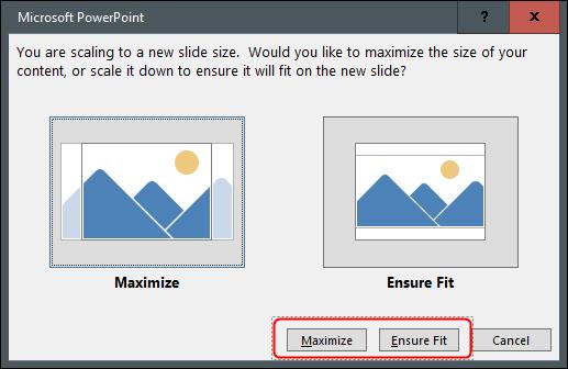 """Click """"Maximize"""" or """"Ensure Fit."""""""