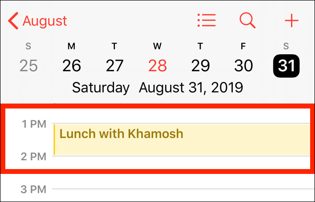 Navigate to the day of the event to see it on your calendar.