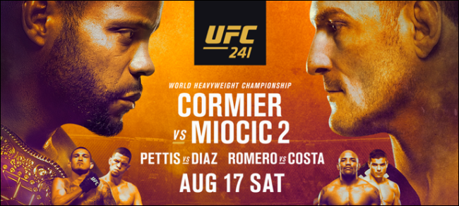 Cormier vs. Miocic fight card