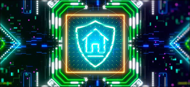 Smart home security and protection symbol.