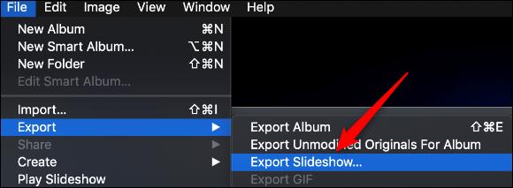 Save slideshow mac