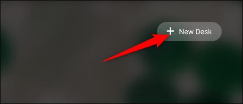 """Agregue un nuevo escritorio haciendo clic en el icono """"+ Nuevo escritorio"""" en la parte superior de la pantalla."""