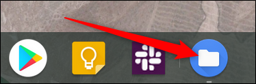 All open apps are shown in the shelf. To switch desks directly to that app, click on its icon in the shelf.