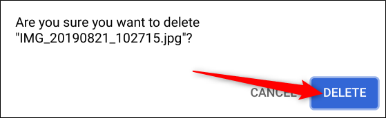"Click ""Delete"" to get rid of the photo."