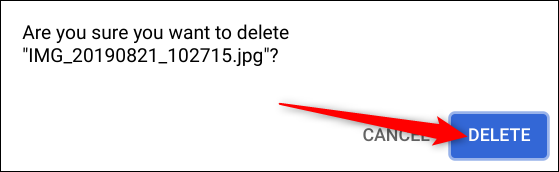 """Click """"Delete"""" to get rid of the photo."""