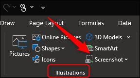 Screenshot in Word, Excel