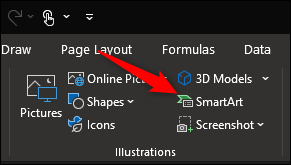 Select SmartArt option