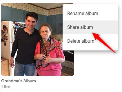 Share Google Photos Album