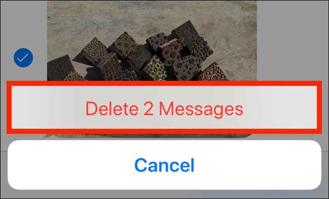"""Tap """"Delete Messages."""""""
