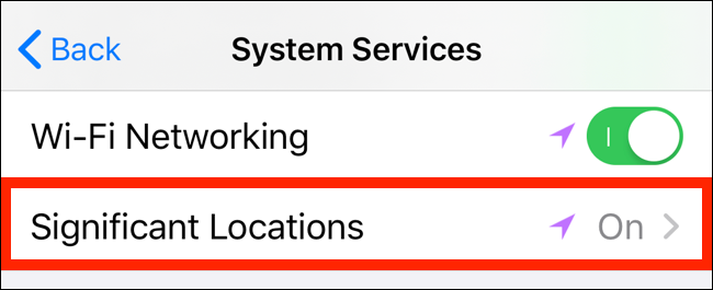 Tap on Significant Location to see location tracking details
